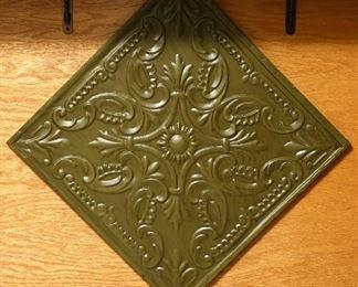 Decorative metal piece.