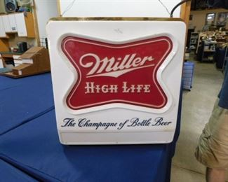 Miller High Life double sided clock sign