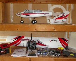 RC airplane parts, RC controller, RC batteries and charger
