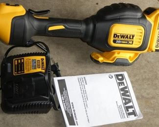 Dewalt electric trimmer 20 volt battery with charger like new