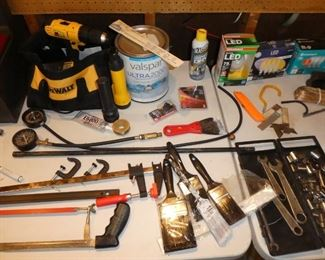 Miscellaneous tolls, Dewalt electric drill 20 volt battery with charger
