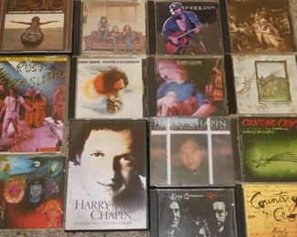 CD's Neil Young, Crosby Stills & Nash, Harry Chapin, Counting Crows, Led Zeppelin