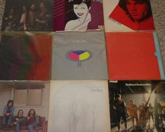 Eagles, Duran Duran, Doors, Creedence Gold, Yes, Rush, The Best of Guess Who, Fleetwood Mac, Crosby Stills & Nash vinyl records