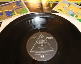 Pink Floyd Dark Side of the Moon vinyl Gatefold with stickers great item for your collection