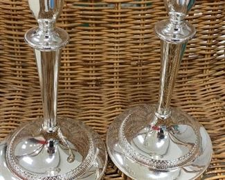 Silverplate Candlesticks for your pleasure