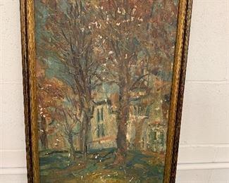Antique Impressionist painting