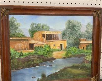 Oil on Cavas, Signed Carolyn Fusion