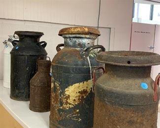 Cool old milk jugs!