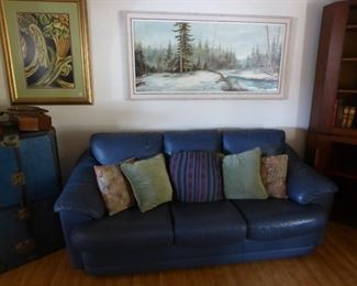 Blue sofa sale price $100