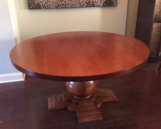 """•Dining Room Table. Large Round, with Pedestal Bulb Base. Andes International Inc. """"Mesa Bolero"""" style. 60"""" Diameter"""