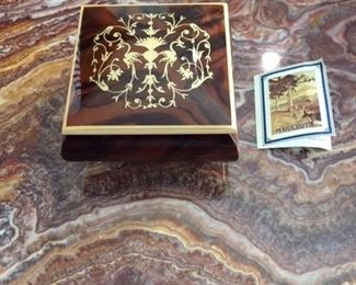 Inlaid Wood Box From Italy Possibly Sorrento Area