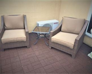 Whicker Patio Chairs Pottery Barn