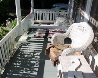 Porch Swing, Seating and Tables