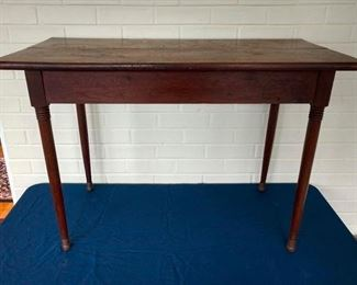 """Handmade Walnut Childs Table  - Wythe Co., 1930s - 18"""" x 36"""", 24"""" Tall.  Made by a Mr. Johnson."""