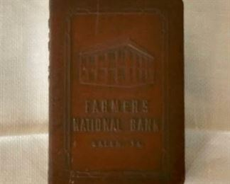 Coin Bank - Farmers National Bank, Salem, Virginia (missing key).