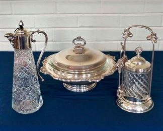 Silver-Plated Pickle Server and other Silver-Plated items.