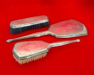 Dresser Set, Mirror and Brushes