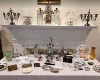 Glass and Silver-plated items