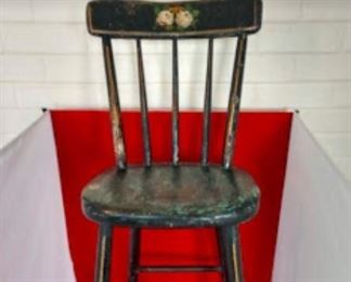 Old Antique Painted High Chair