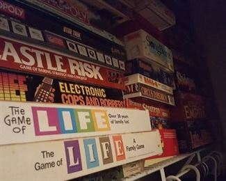 Large quantity of board games in really nice condition