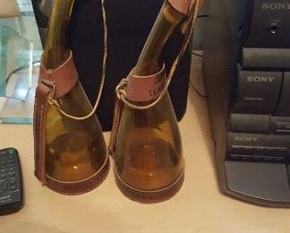 Flask style glass bottles