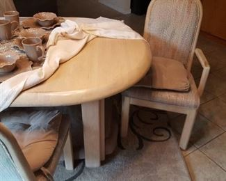 Nice modern dining table and chair set