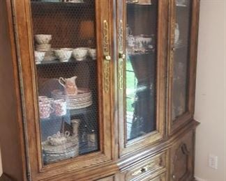 Large china cabinet in two pieces (bring a truck)