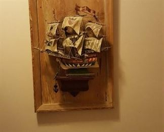 Ship wall hanging