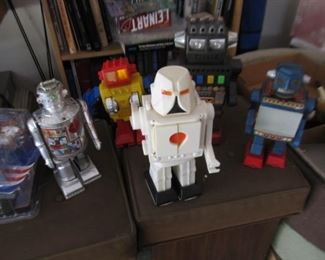 Group of plastic robots from 1970s and 80s (another pic)