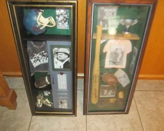 Sports shadow boxes for decor