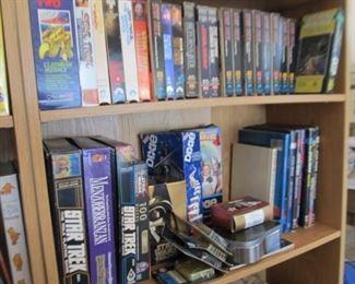 Star Trek, Star Wars games, puzzles, figures