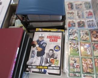 Thousands of baseball and football cards