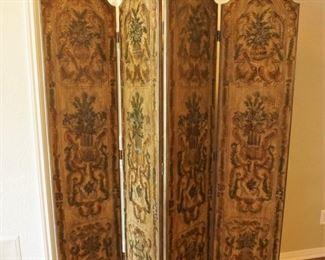 Decorative folding screen