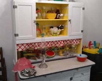 Antique Hoosier Cabinet, restored.