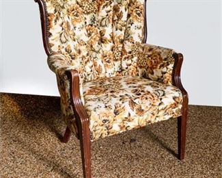 Lot 019  Vintage Shell Back Occasional Chair