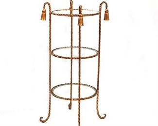 Lot 020  Hollywood Regency Style Brass Plant Stand