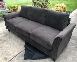 like new chocolate brown sofa couch
