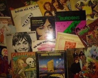 COLLECTION OF RARE MONO 1ST PRESS EARLY ROCK/ PUNK RECORDS  GRATEFUL DEAD, DAVID ALLEN COE, ROLLING STONES, IGGY POP, ATOMIC ROOSTER, THE BURDONS(SEALED), VELVET UNDERGROUND, JIMMY HENDRIX, BOB DYLAN (RARE BOOTLEG)