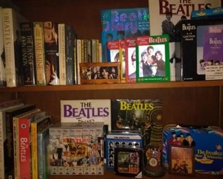 BEATLES MANIA COMING FROM A SUPER FAN ORIGINAL BOOKS , GROUP BIOGRAPHIES, PLAYING CARDS,  MINI FIGURES AND MORE...