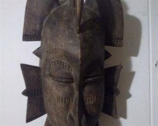 Vintage Wooden African  Tribal Mask