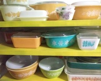 Lots of Vintage Colored Pyrex