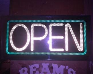 Vintage Neon Light OPEN Sign