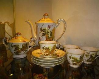 4 Piece Vintage Victora Hand Painted Tea Creamer Set