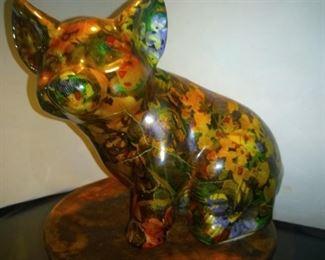Painted Ceramic Pig