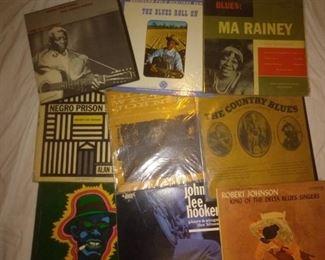Rare Blues Albums , Leadbelly, Ma Rainy , John Lee Hooker, Lightnin Hopkins, Blind Willie Johnson, Robert Johnson, The Country Blues Compilation, Negro Prison Songs Recorded by Alan Lomax