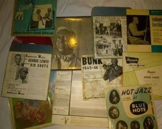 Rare  American Music Red  Records ,Mailout Blue Note Vinyl Records Bunk Johnson, Sidney Bechet, And More....