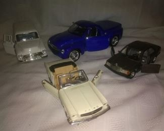 Model Cars Mustang, Mercedes, Chevy, Plymoth