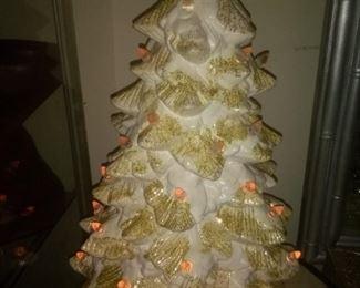 Vintage White Ceramic Christmas Tree