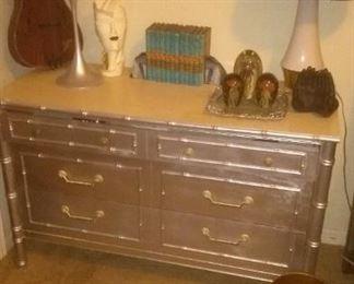 Vintage Silver  1966 Thomasville Dresser
