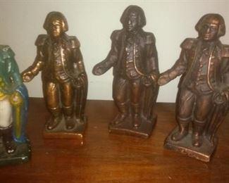 4 George Washington Shaped Cast Iron Banks Hubley